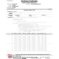 Dữ liệu kiểm tra hiệu chuẩn Z540