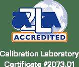 Giấy chứng nhận hiệu chuẩn được chứng nhận AZLA # 2073.01